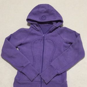 Lulu Lemon purple zip up hoodie size 4